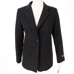 Harve Benard 4 Women 1 Button Peacoat Black Wool